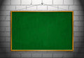 New Black chalk board with wooden frame with hang wall isolated Royalty Free Stock Photo
