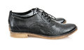 New black leather shoes for man Royalty Free Stock Photo