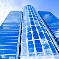 New blue glass business skyscraper Royalty Free Stock Photography