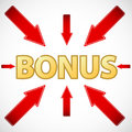New bonus icon located on a white background Royalty Free Stock Photography