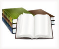 New books open white background vector illustration Royalty Free Stock Photography