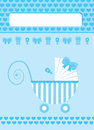 New born baby boy greeting card blue Royalty Free Stock Photo