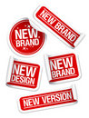 New Brand stickers. Royalty Free Stock Photos