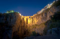 New Bridge at night, Ronda, Spain Royalty Free Stock Image
