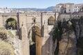 New Bridge over Guadalevin River in Ronda, Malaga, Spain. Popula Royalty Free Stock Photo