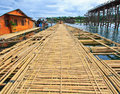 The new bridge which built to temporarily used instead of Utamanusorn bridge or Morn bridge, Thailand Royalty Free Stock Images
