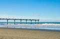 New Brighton Pier in Christchurch Royalty Free Stock Photo