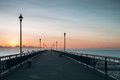 New Brighton Pier early in the morning Royalty Free Stock Photo