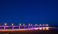 New brighton pier in the night Stock Image
