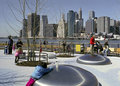 New Brooklyn New York Playground. Stock Image