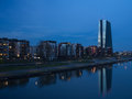 The new building of the European Central Bank Headquarters, Frankfurt Royalty Free Stock Photo