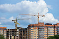 New buildings in dolgoprudny moscow region russia july construction of residential on the banks of canal about millions square Royalty Free Stock Images