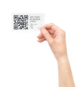 New Business Card with qr code Stock Photo