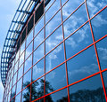 New business center windows Royalty Free Stock Images