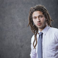 New business portrait of a young businessman Stock Photos
