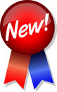 New! Button and Ribbon/eps Royalty Free Stock Photo
