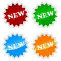 New buttons set on a white background Stock Photos