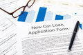New car loan application form Stock Photos