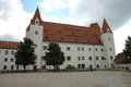 New castle building in armament museum in ingolstadt in germany august unidentified people visible Stock Photos