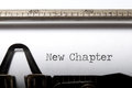 New chapter Royalty Free Stock Photo