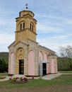 New church in a rural ares of Serbia Royalty Free Stock Photo