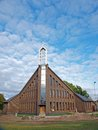 New church unfinished building of modern style Royalty Free Stock Photography
