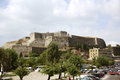 The new citadel in corfu town greece or fortress a huge complex of fortifications dominating northeastern part of city Stock Image