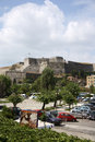 The new citadel in corfu town greece or fortress a huge complex of fortifications dominating northeastern part of city Stock Photography