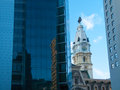 New city hall view of the in philadelphia Stock Photography