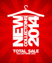 New collections total sale banner Stock Image