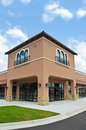 New commercial building with retail and office space available for sale or lease Royalty Free Stock Photography