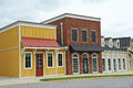 New commercial building with retail and office space available for sale or lease Stock Photos