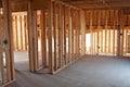 New Construction Framing Interior Royalty Free Stock Photo