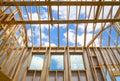 New construction home framing Royalty Free Stock Photo