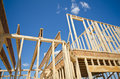 New construction home framing Royalty Free Stock Photo