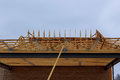 New construction of a house Framed New Construction Royalty Free Stock Photo
