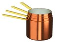 New copper pot but handmade Royalty Free Stock Image