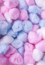 New Cotton balls, abstact multicolored background Royalty Free Stock Photo