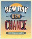 New day new chance vector illustration Stock Photography