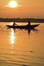 A new day a new life taken just after sunrise at the bank of ganges river in varanasi india Royalty Free Stock Image