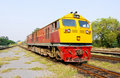 New diesel electric  locomotive Royalty Free Stock Photography