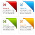 Vector information cards Royalty Free Stock Photo