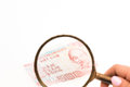 New 500 dongs under magnifying glass Royalty Free Stock Photo