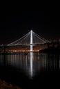 New East span of Bay bridge night shot Royalty Free Stock Photo