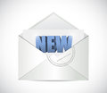 New email illustration design over a white background Stock Photography