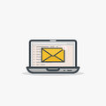 New email and laptop Royalty Free Stock Photo