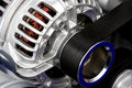 New engine closeup. Alternator Royalty Free Stock Photo