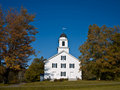 New England Church Fall Royalty Free Stock Photography