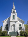 New england church white wooden in vermont usa Royalty Free Stock Image