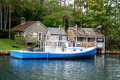 New England fisherman village Royalty Free Stock Photo